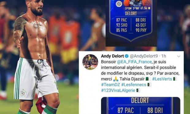 Equipe d'Algérie : EN: Delort demande à FIFA de changer sa nationalité