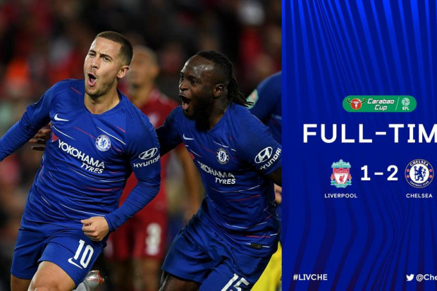 Chelsea s'offre Liverpool, Arsenal passe — League Cup