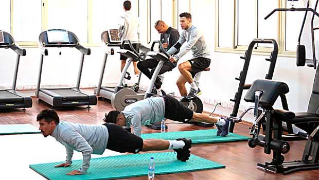 Premiere séance d'entrainement des Verts avant le Cap-Vert — Algérie