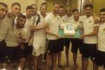 Les joueurs ont fêté l'anniversaire de Slimani