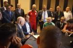 Le Chef de l'Etat, Abdelkader Bensalah  rend visite à la sélection nationale au Caire