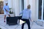 Quand Nadal affronte sa soeur sur sa terrasse (Vidéo)