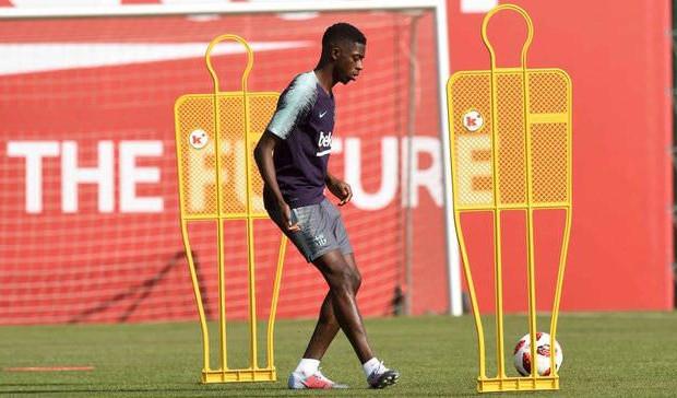 Ousmane Dembélé déjà de retour à l'entraînement — Barça