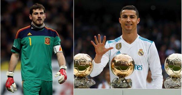Pour Casillas, Ronaldo ne mérite pas le Ballon d'Or — International