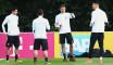 La sélection allemande à l'entrainement